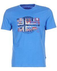 Napapijri - Sey Men's T Shirt In Blue - Lyst