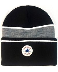 Converse - Chuck Taylor Blocked Knit Beanie - Black Men's Beanie In Black - Lyst