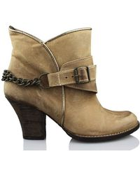 Vienty - Espuelas-moscu Women's Low Ankle Boots In Brown - Lyst