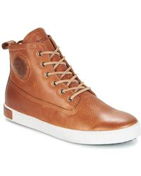 Blackstone - Gm06 Men's Shoes (high-top Trainers) In Brown - Lyst