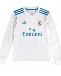 Adidas 2017-2018 Real Madrid Home Long Sleeve Shirt (kids) Women s In White  in White for Men - Save 43.47826086956522% - Lyst 90592ea44