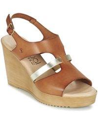 Casual Attitude - Gemi Women's Sandals In Brown - Lyst