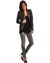 SuperTrash - Jacket Jerrod Women's Leather Jacket In Black - Lyst
