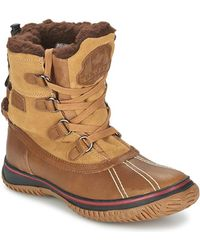 Pajar - Iceland Waterproof Sherpa-lined Leather Ankle Boots - Lyst