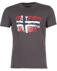 Napapijri - Saleny Men's T Shirt In Grey - Lyst