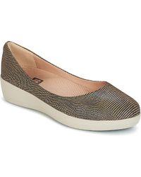 Fitflop - Lizard Print Superballerina Women's Shoes (pumps / Ballerinas) In Brown - Lyst