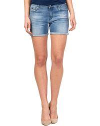 Gas - 375178 Shorts Women Blue Women's Shorts In Blue - Lyst