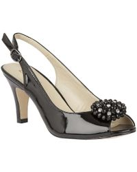 Lotus - Elodie Womens Sling Back Court Shoes Women's Sandals In Black - Lyst