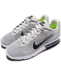 11e8f427a9 Nike - Wmns Air Max Sequent 2 Women's Running Trainers In Grey - Lyst