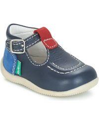 Kickers - Bonbek Boys's Children's Shoes (pumps / Plimsolls) In Blue - Lyst
