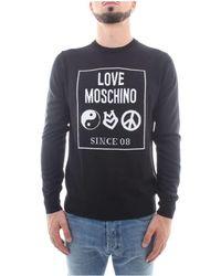 Love Moschino - M S G24 21 X 0046 Tricot Homme Noir hommes Pull en Noir - Lyst