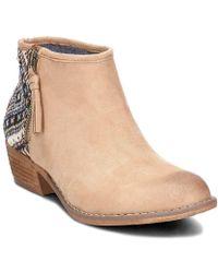 Roxy - Martie Women's Low Ankle Boots In Beige - Lyst