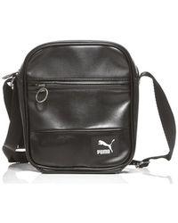 90ade0c3ea6f PUMA - Originals Portable Men s Shoulder Bag In Black - Lyst