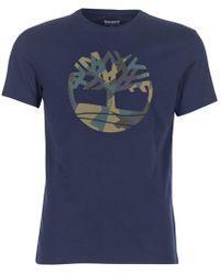 Timberland - Ss Kennebec River Seasonal Tee Men's T Shirt In Blue - Lyst