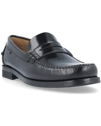 13f4a3eb66 Yuketen Men'S Antler Leather Moccasin Shoes in Black for Men - Lyst