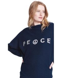 Max & Moi - Pullover Peace Navy Blue Woman Spring/summer Collection 2018 Women's Sweatshirt In Blue - Lyst