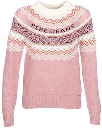 Pepe Jeans - Alina Women's Jumper In Pink - Lyst