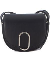 3.1 Phillip Lim - Alix Mini Saddle Black Leather Shoulder Bag Women's Shoulder Bag In Black - Lyst