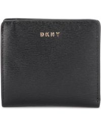 DKNY - Bryant Black Leather Wallet Women's Purse Wallet In Black - Lyst