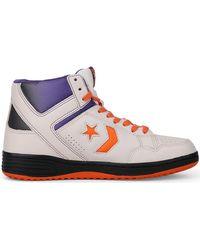 6b4b4ea74336 Converse - Weapon 86 Hi White orange Men s Shoes (high-top Trainers)