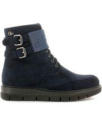 Byblos Blu | 6670k1 Ankle Boots Women Blue Women's Mid Boots In Blue | Lyst
