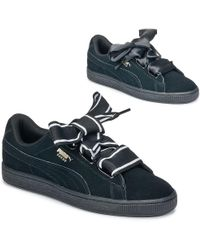 8986bfe1f92a PUMA - Basket Heart Satin Shoes (trainers) - Lyst