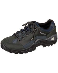Lowa - Renegade Dunkelgraunavy Gtx Men's Shoes (trainers) In Multicolour - Lyst