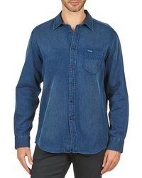 Façonnable - Permala Men's Long Sleeved Shirt In Blue - Lyst