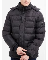 a379d02fd622 Rg 512 - Long Down Jacket With Hood Men s Jacket In Black - Lyst
