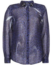 5db66c983dc Guess - Borice Women s Shirt In Blue - Lyst