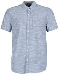 Volcom - Evrett Oxford Men's Short Sleeved Shirt In Blue - Lyst