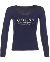 Guess - Olivio Women's Jumper In Blue - Lyst