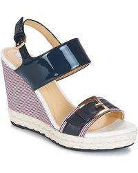 83fec82b48e Geox D New Rorie B Women's Sandals In White in White - Lyst