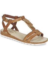 903c5fac843c46 Hush Puppies - Bretta Jade Women s Sandals In Brown - Lyst