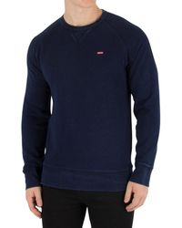 Levi's - Levis Men's Original Icon Sweatshirt, Blue Men's Sweater In Blue - Lyst