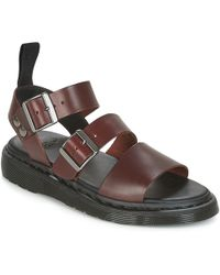 Dr. Martens - Gryphon Women's Sandals In Brown - Lyst