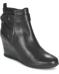 Geox - D Inspiration Wedge Women's Low Ankle Boots In Black - Lyst