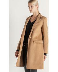 Max & Moi - Wool Woollen Coat Capfash-h18-camel-conf Camel Woman Ah18 Women's Coat In Brown - Lyst
