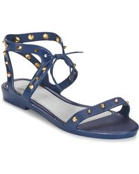 ca5007670565a3 Melissa + Jason Wu Flat Gladiator Sandals - Artemis in Natural - Lyst