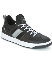 Polo Ralph Lauren - Court 200 Men's Shoes (trainers) In Black - Lyst