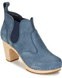 Swedish Hasbeens - Opera Bootie Women's Low Boots In Blue - Lyst