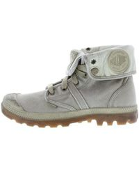 Palladium - Lady Pallabrouse Baggy Women's Walking Boots In Grey - Lyst