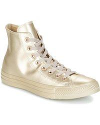 fb057e57ee33 Converse - Chuck Taylor All Star Liquid Metallic Hi Liquid Metallic Hi Gold  Women s Shoes (