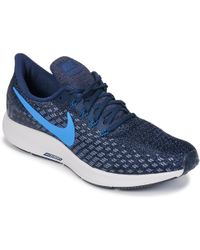 new product ed0bd 1b1e0 new zealand nike air zoom pegasus 35 mens running trainers in blue lyst  31ea2 62186