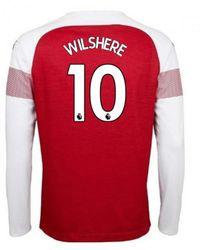PUMA - 2018-2019 Arsenal Home Long Sleeve Shirt (wilshere 10) Women s In 74524eb43