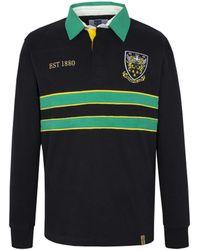 Ellis Rugby - Vintage Saints Rugby Top Men's Polo Shirt In Black - Lyst