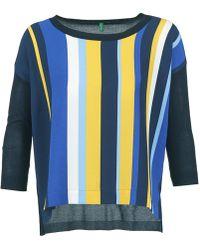 Benetton - Ovezak Women's Sweater In Blue - Lyst
