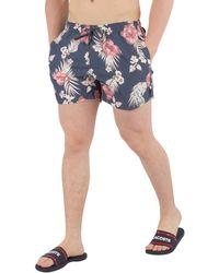 Sik Silk - Men's Hazey Daze Swim Shorts, Blue Men's Shorts In Blue - Lyst