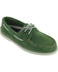 Sperry Top-Sider - A/o 2 Eye Men's Boat Shoes In Green - Lyst