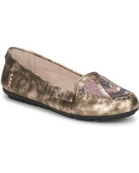 House of Harlow 1960 - Marion Women's Loafers / Casual Shoes In Gold - Lyst